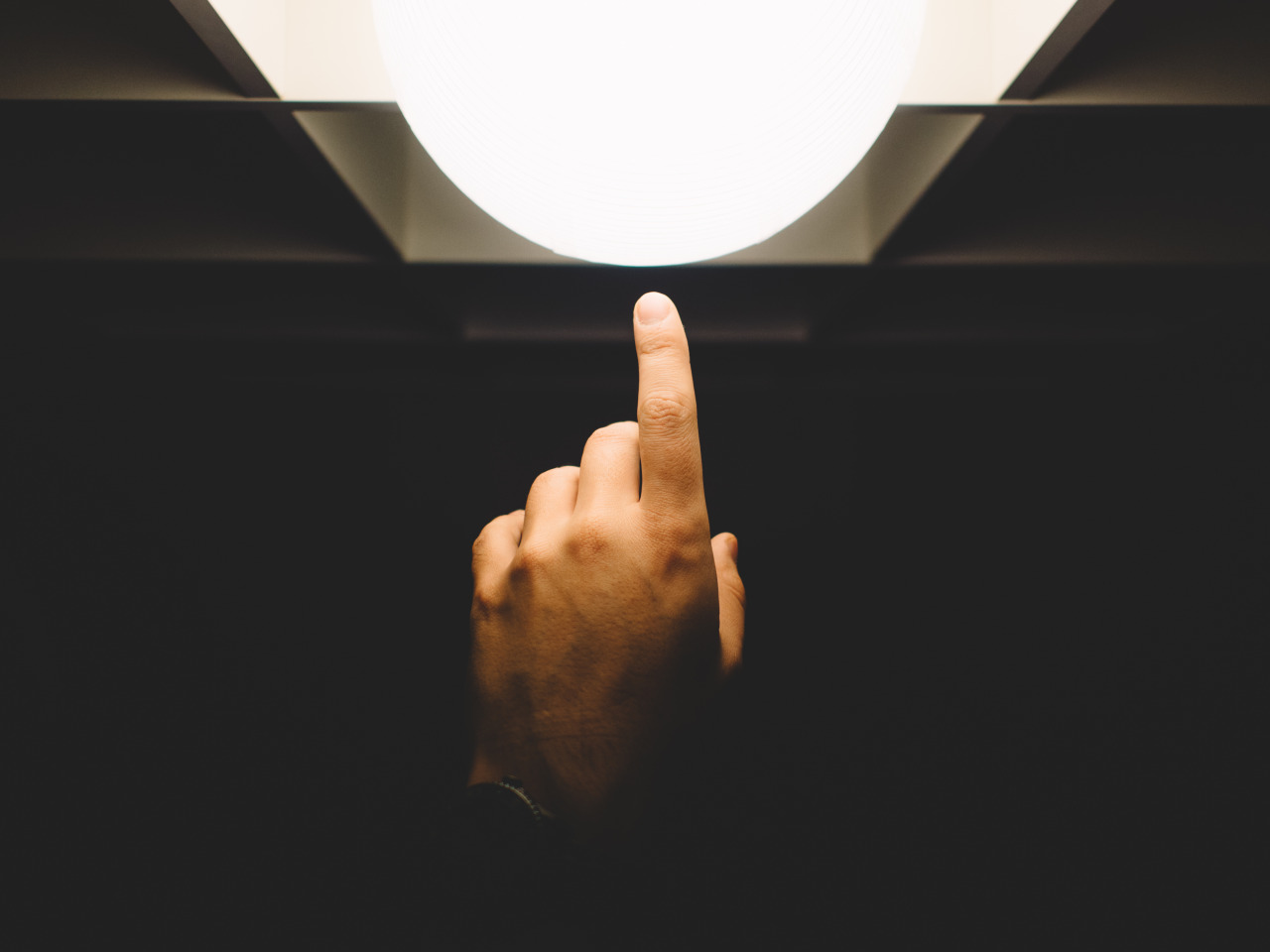 Finger pointing to light crowdfunding marketing